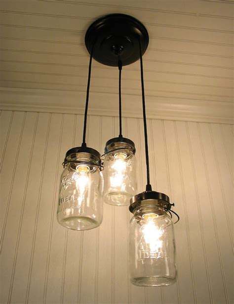 eclectic pendant lighting vintage canning jar chandelier by lgoods eclectic