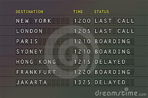 flight departure board stock image image