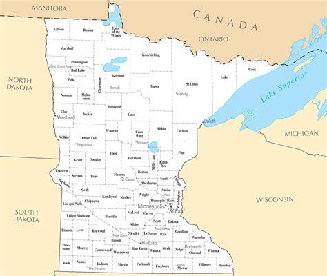 Minnesota Cities And Towns ? Mapsof.net