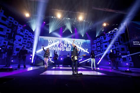 Church Stage Lighting by Squared Wings Church Stage Design Ideas