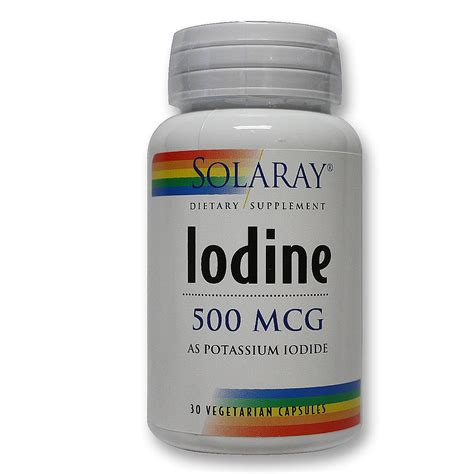 Iodine Supplementation Detox Symptoms by Solaray Iodine As Potassium Iodide 30 Vcapsules
