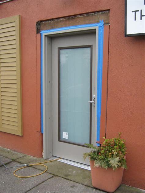 hollow metal doors with glass door window mechanics inc door installation