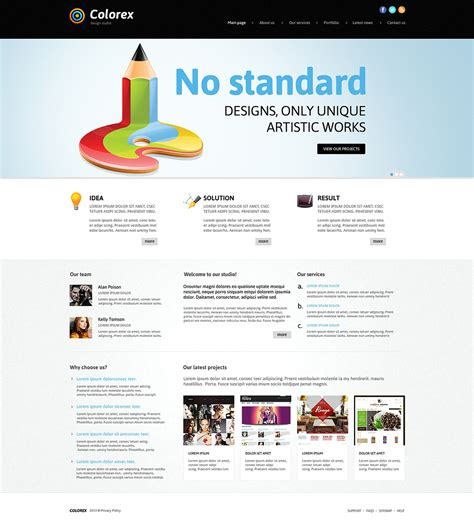 joomla category blog layout template joomla template 47346 in web design category