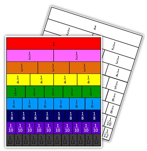 printable unmarked calendar equivalent fraction bars template search results