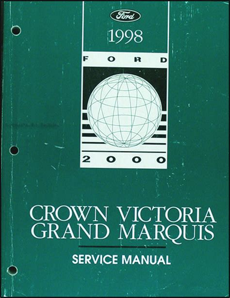 car repair manual download 1998 ford crown victoria engine control 1998 ford crown victoria mercury grand marquis repair shop manual original