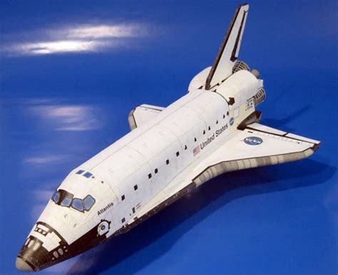Space Papercraft - space shuttle papercraft jpg