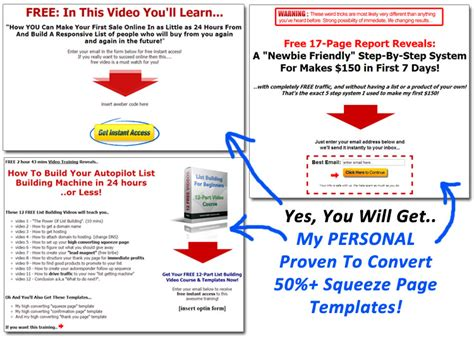 squeeze page templates squeeze page supremacy