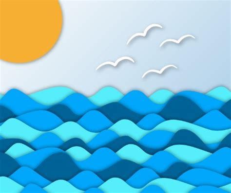 Home Design Media Kit by Free Blue Sea Sunrise Vector Clipart Titanui