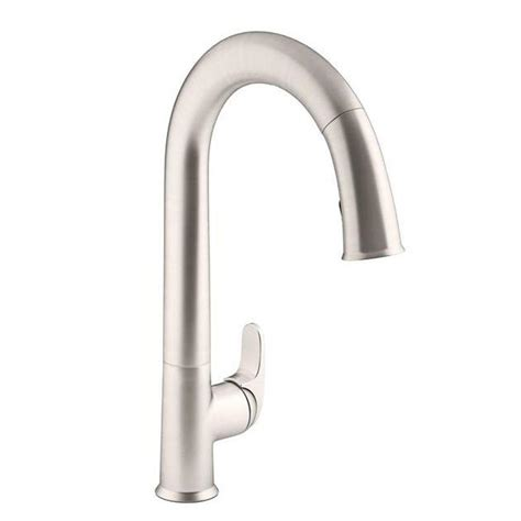 kohler sensate ac powered touchless kitchen faucet in vibrant stainless with docknetik and sweep