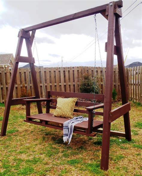 home swing set porch swing bed plans