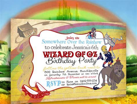 wizard of oz invitation
