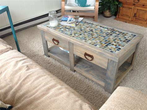 Diy Tile Coffee Table White Tile Top Coffee Table Diy Projects