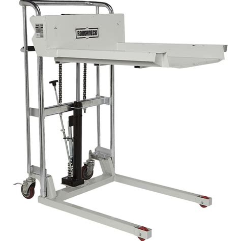 roughneck ultra low profile lift table cart 1 000 lb