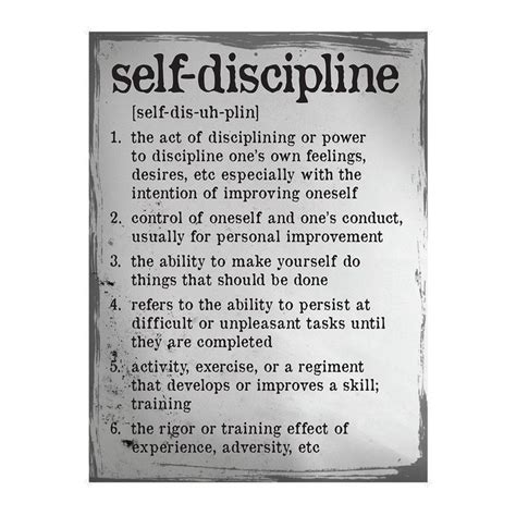 traditional wisdom definition self discipline definition poster traditional design