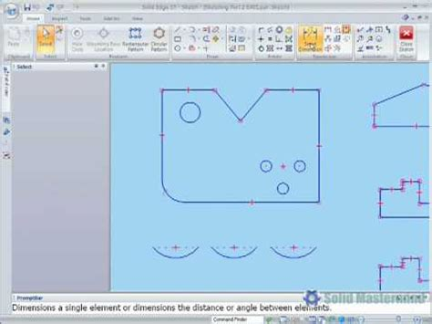 pattern sketch solid edge solid edge fundamentals tutorial how to control sketch