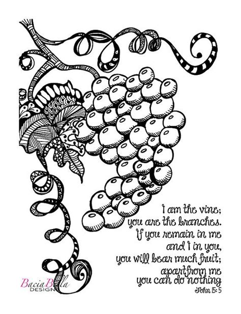 Coloring Page Vine And Branches by Zen Tangle Grapevine 15 5 Coloring Page I Am