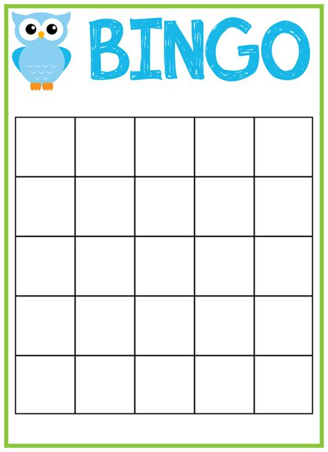 bingo template free printable owl baby shower invitations other
