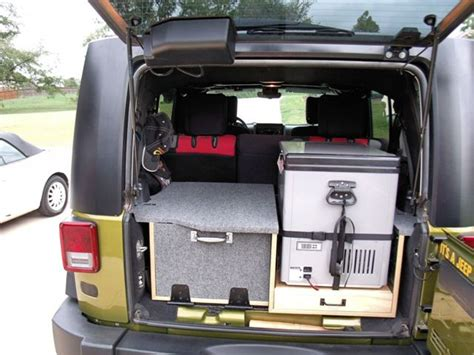 jeep bed in back anyone running a fridge in rear of jeep or truck bed
