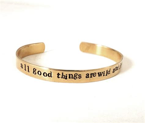 metal quote bracelet hand stamped jewelry by WyomingCreative