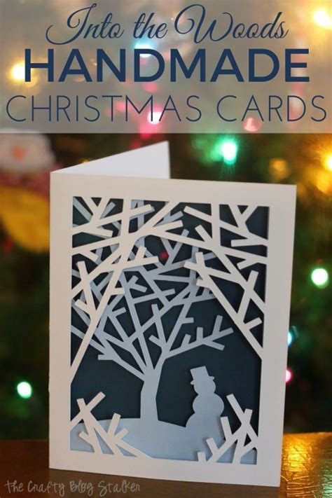 how to make beautiful handmade cards how to make into the woods handmade cards