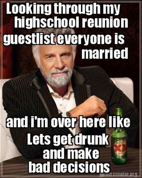 High School Reunion Meme - meme creator looking through my highschool reunion