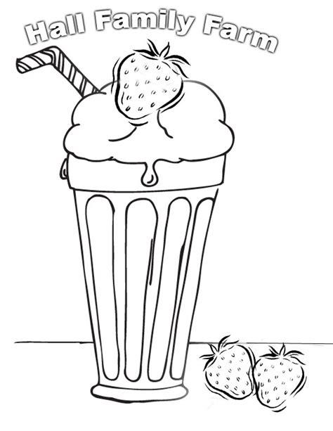 Milkshake Coloring Page strawberry milkshake free colouring pages