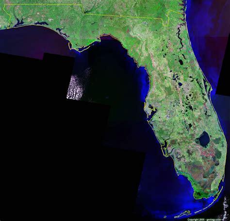 florida satellite images landsat color image