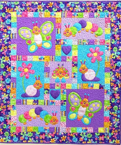 Cot Quilt Patterns Free by Bugsy Quilt Pattern Adorable Appliqu 233 Pieced Quilt