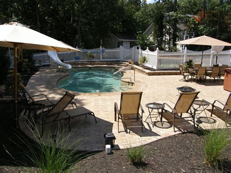 Backyard Ideas Around Pool 2 Ideas For Inground Swimming Pool Patio