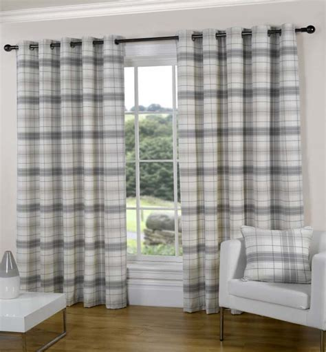 tartan curtains ready made curtains texcraft from linen lace and patchwork