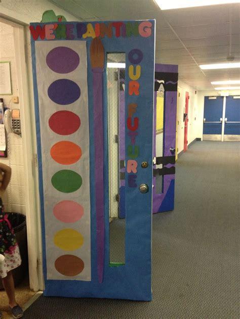 Room Door Decorations by Watercolor Door Decoration Back To School Decor Sub
