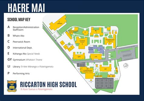 riccarton high school school map