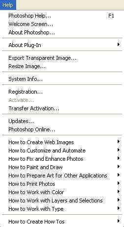Pengetahuan Menu menu bar photoshop berbagi pengetahuan