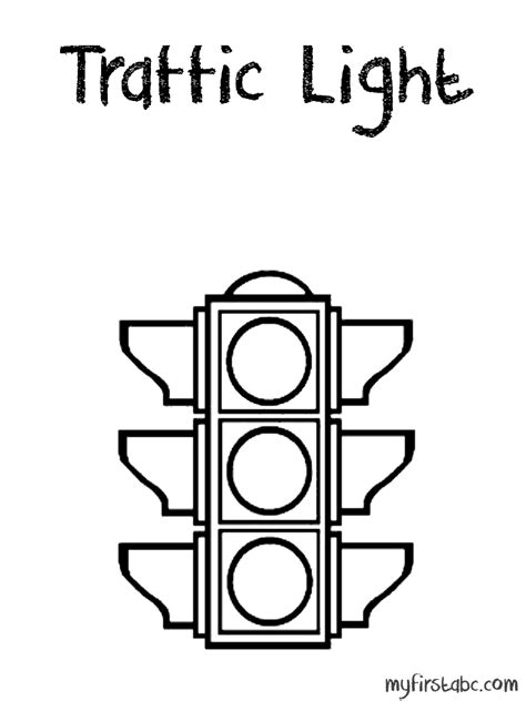 Traffic Light Coloring Page My First Abc Free Traffic Lights Coloring Pages