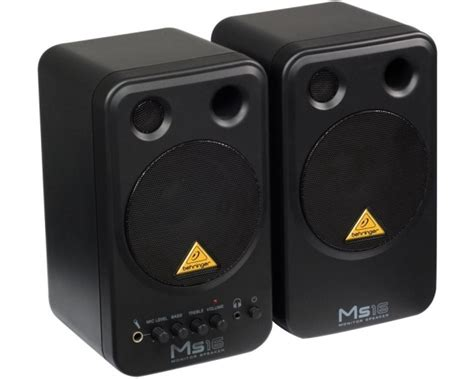 Speaker Monitor Behringer Ms16 16 Watt behringer ms16 coppia di monitor speaker attivi 16 watt