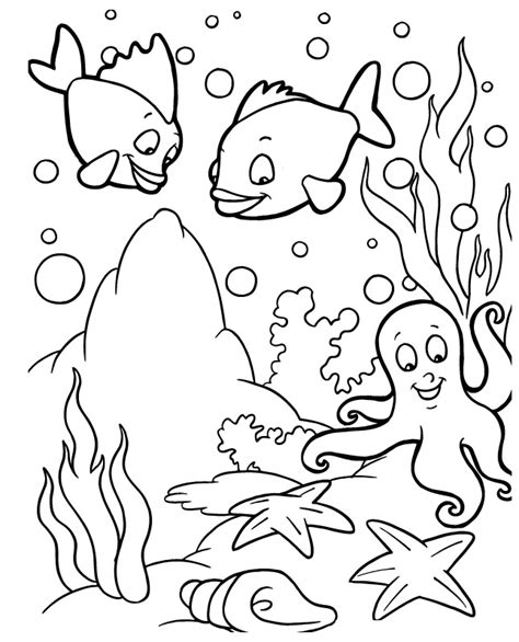 coloring page of under the sea sea life coloring pages az coloring pages