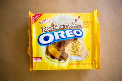 is the newest oreo flavor fried chicken first we feast root beer float oreos taste like retro soda parlors and