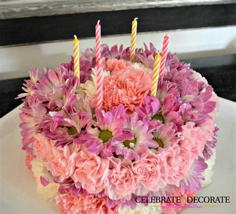 how to make a birthday cake for a how to make a floral birthday cake celebrate decorate