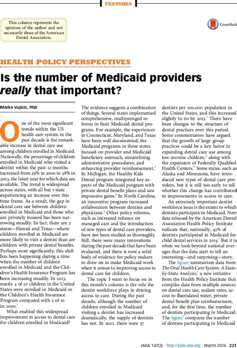 indiana medicaid phone number is the number of medicaid providers really that important the journal of the american dental