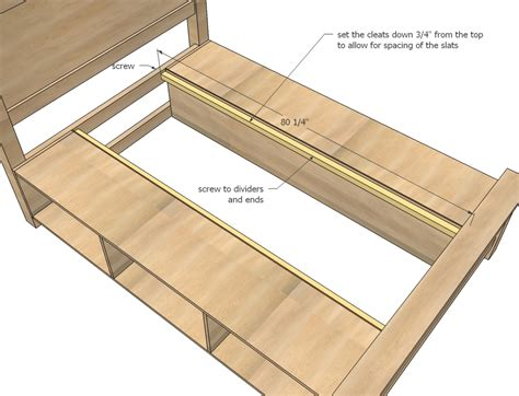 storage bed plans full size captain bed with head board and storage plans