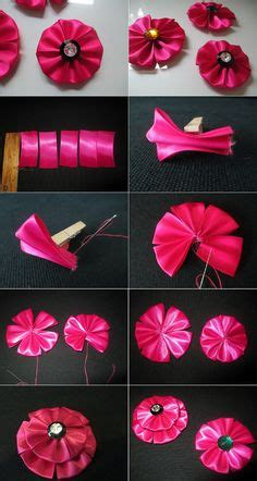 free patterns and instruction on making flower hair clips new hobby on pinterest hair bows diy hair bows and