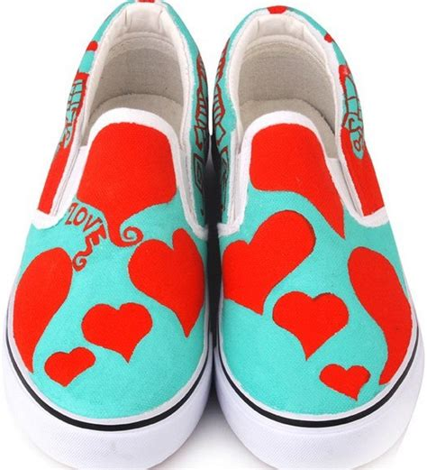 painting shoes painted canvas shoes