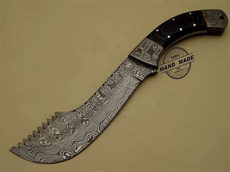 designer knife new damascus chopper knife custom handmade damascus steel