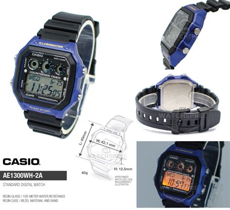 Jam Tangan Pria Casio Original Ae 1000w 1a casio ae series jam tangan casio seri ae garansi 1 tahun original 100 deals for only