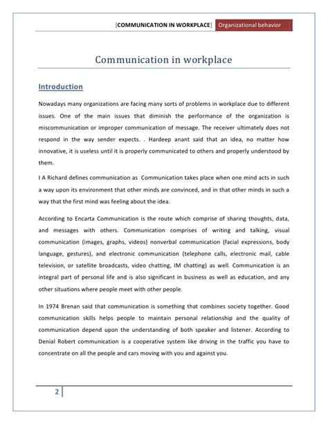 Effective Communication Essay by Thesis Statement On Communication In The Workplace Kingessays Web Fc2