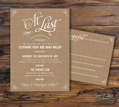 Craft Paper Wedding Invitations - kraft paper wedding invitations piktoland