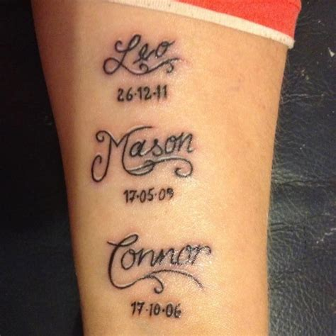 tattoo ideas kid on ankle with childrens names children s