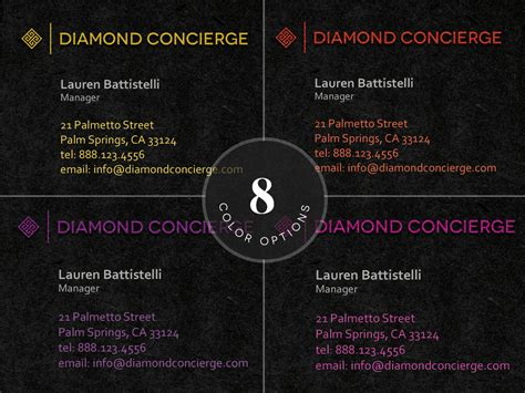 concierge business cards template concierge business card template business card templates