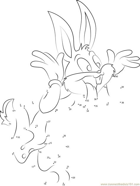 printable rabbit dot to dot bugs bunny rabbit dot to dot printable worksheet connect
