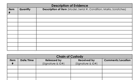 sle invoice docx chain of custody exle best chain 2018